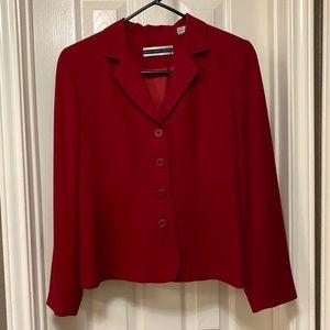 Cranberry Red Suit Jacket/Blazer by Amanda Smith